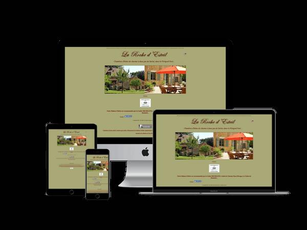 creation site web de chambres d'hotes à sarlat