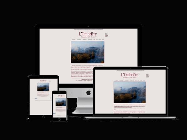 creation site web de chambres d'hotes en Dordogne