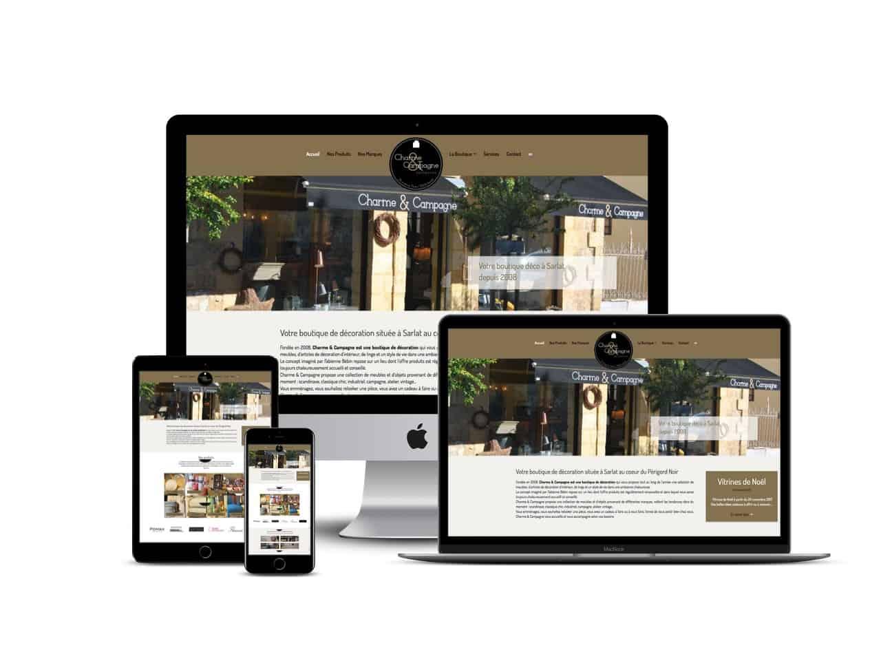 Site Internet Decoration Intérieure création de sites internet de magasin en dordogne à sarlat