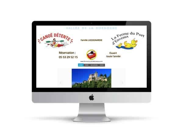 refonte de site internet de canoe en dordogne près de sarlat