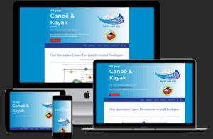 relooking de site internet à sarlat pour une base de canoe kayak en Dordogne