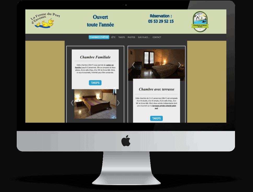 Relooking de site internet de chambres d'hotes en Dordogne