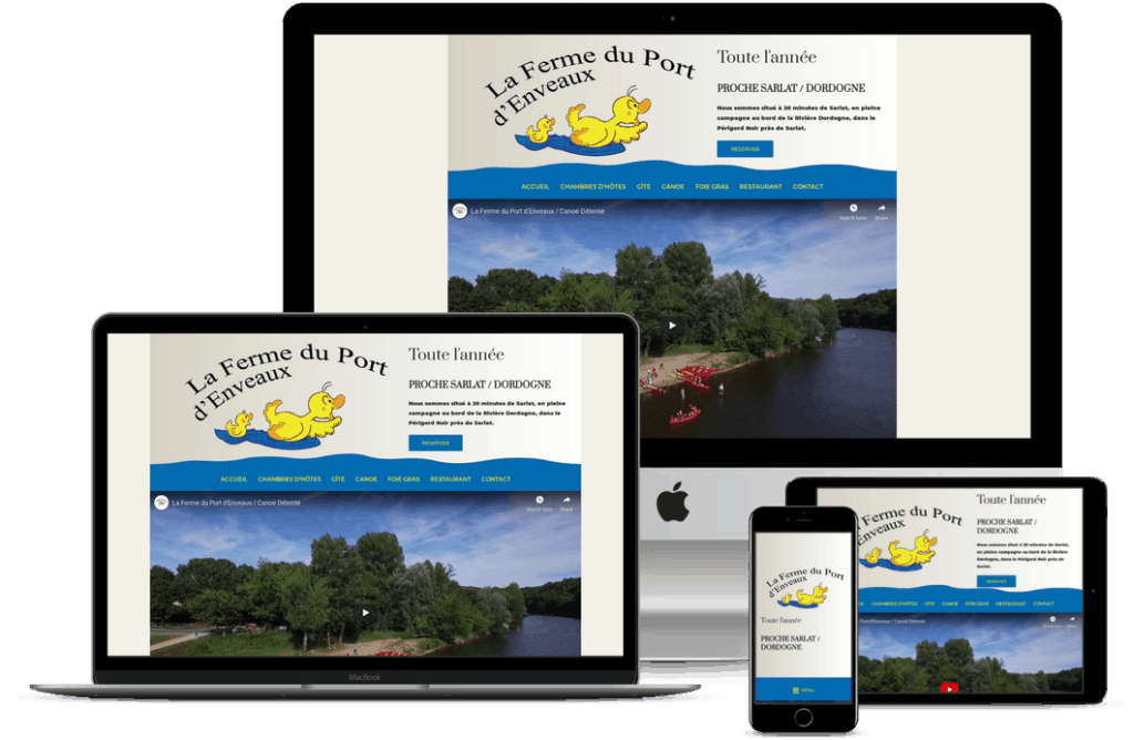 creation site internet touristique en Dordogne