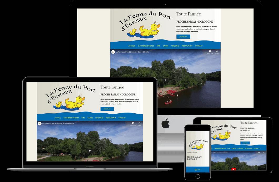 creation site internet touristique en Dordogne