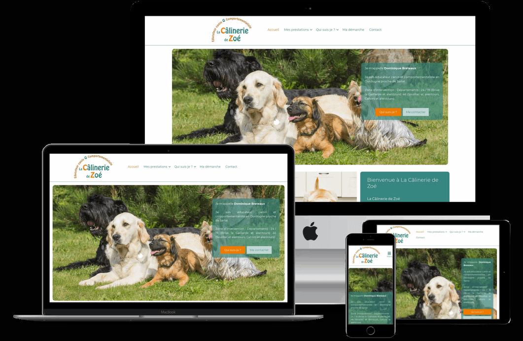 Création site internet pour educateur et comportementaiste canin