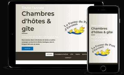 Création site internet responsive pour chambres d'hotes et gite en Dordogne