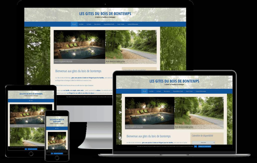 création site web gite en Dordogne