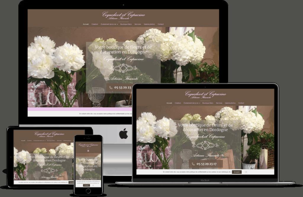 Création site internet d'artisan fleuriste