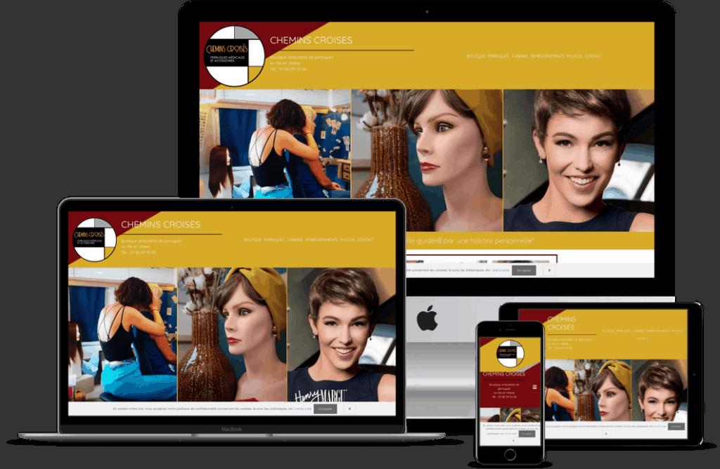 Création site internet coiffeur perruquière près de Rennes