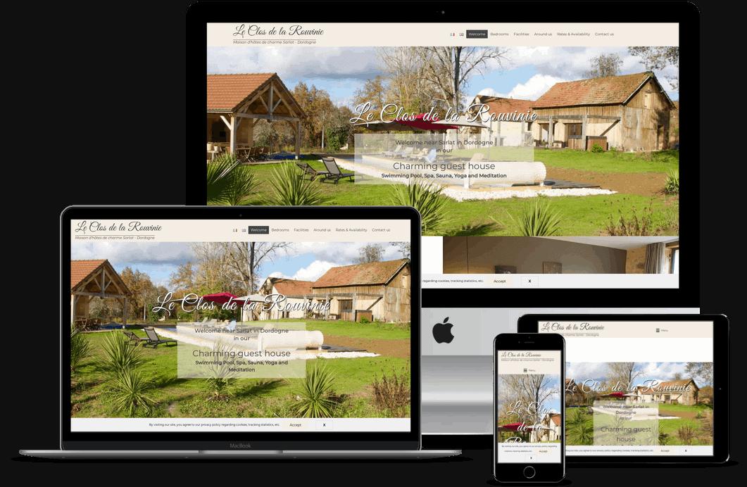 création site web de chambres d'hotes Sarlat en Dordogne