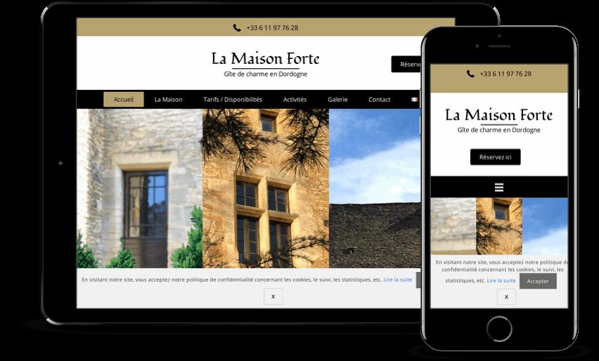 conception de site internet de location de vacances à Saint Cyprienen Dordogne
